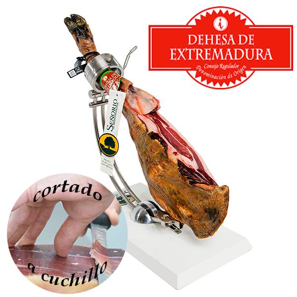 paletilla 100 x 100 iberica de bellota señorio de montanera do extremadura corte abierto