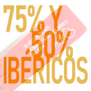 Comprar jamón 50 y 75 % ibérico