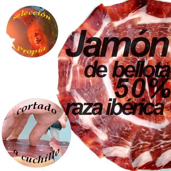 loncheado redondo jamon 50 x 100 bellota 2