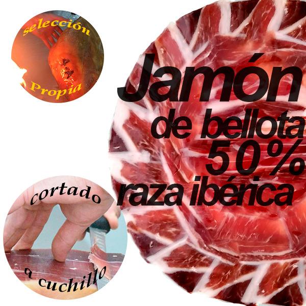 loncheado redondo jamon 50 x 100 bellota